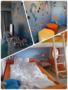 ルネッサンスリゾートオキナワのフリッパーズコネクティングルームで子供も大喜び!